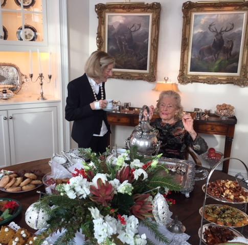 Joan Fee pouring tea!