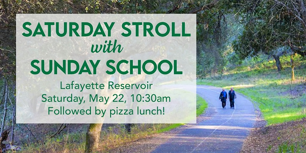 Saturday Stroll with Sunday School Cancelled due to lack of reservations