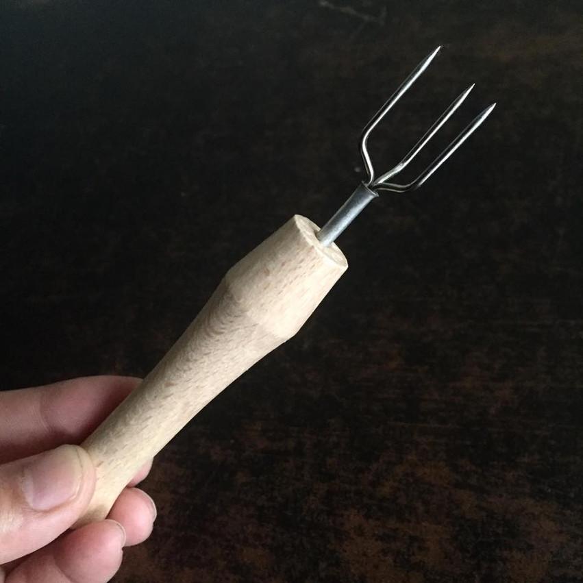 ジャガイモの皮剥き補助棒