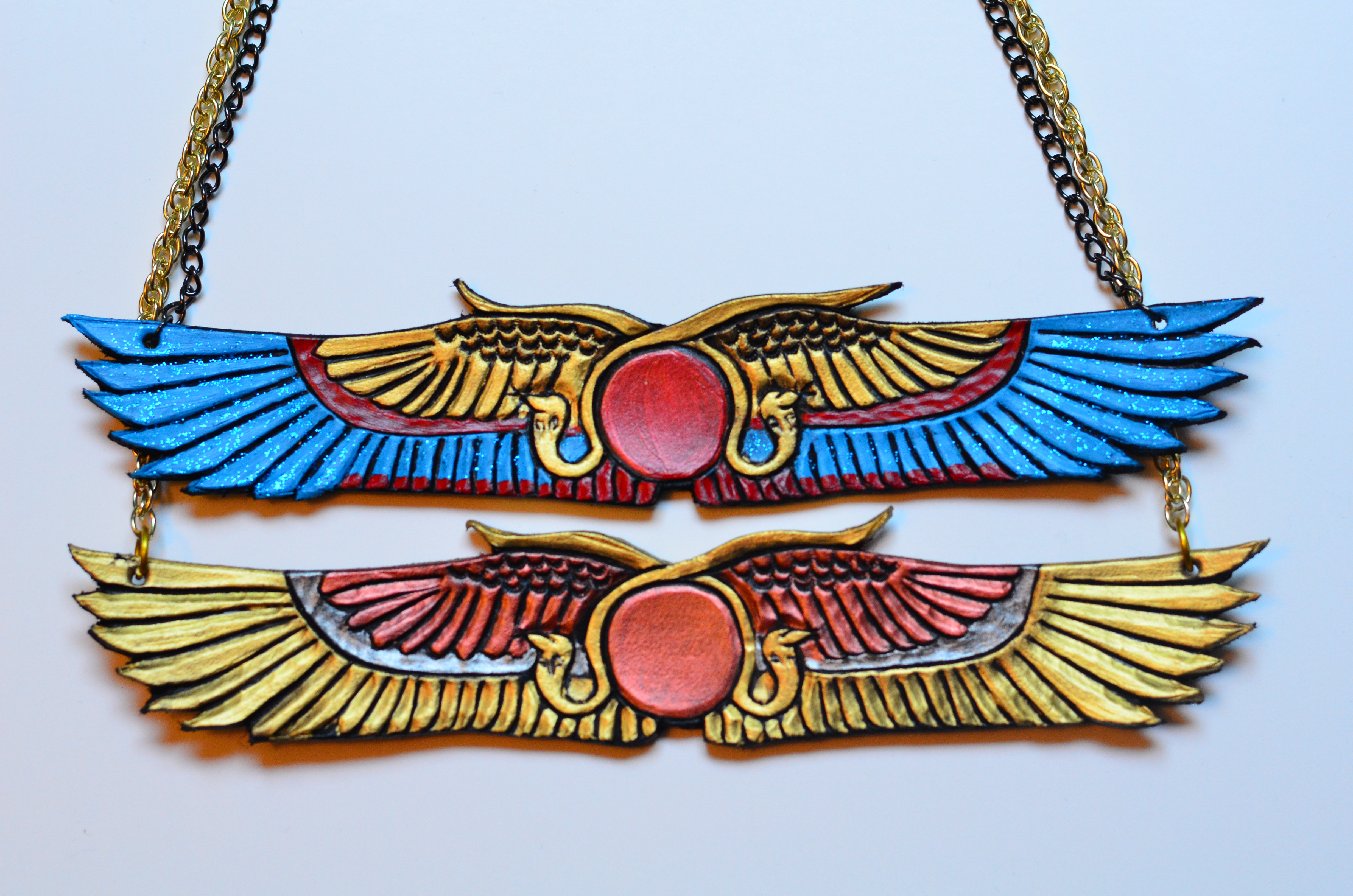 Egyptian Wing Leather Necklaces