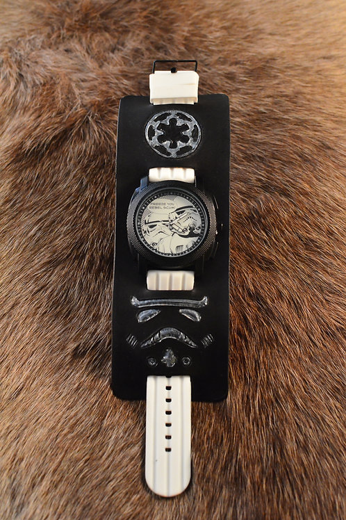 Stormtrooper Star Wars Rogue One inspired leather cuff watch