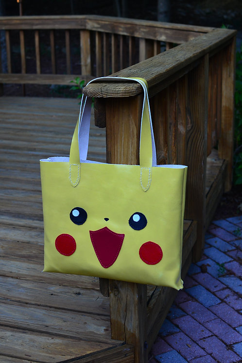 Pikachu Pokemon Leather Totebag