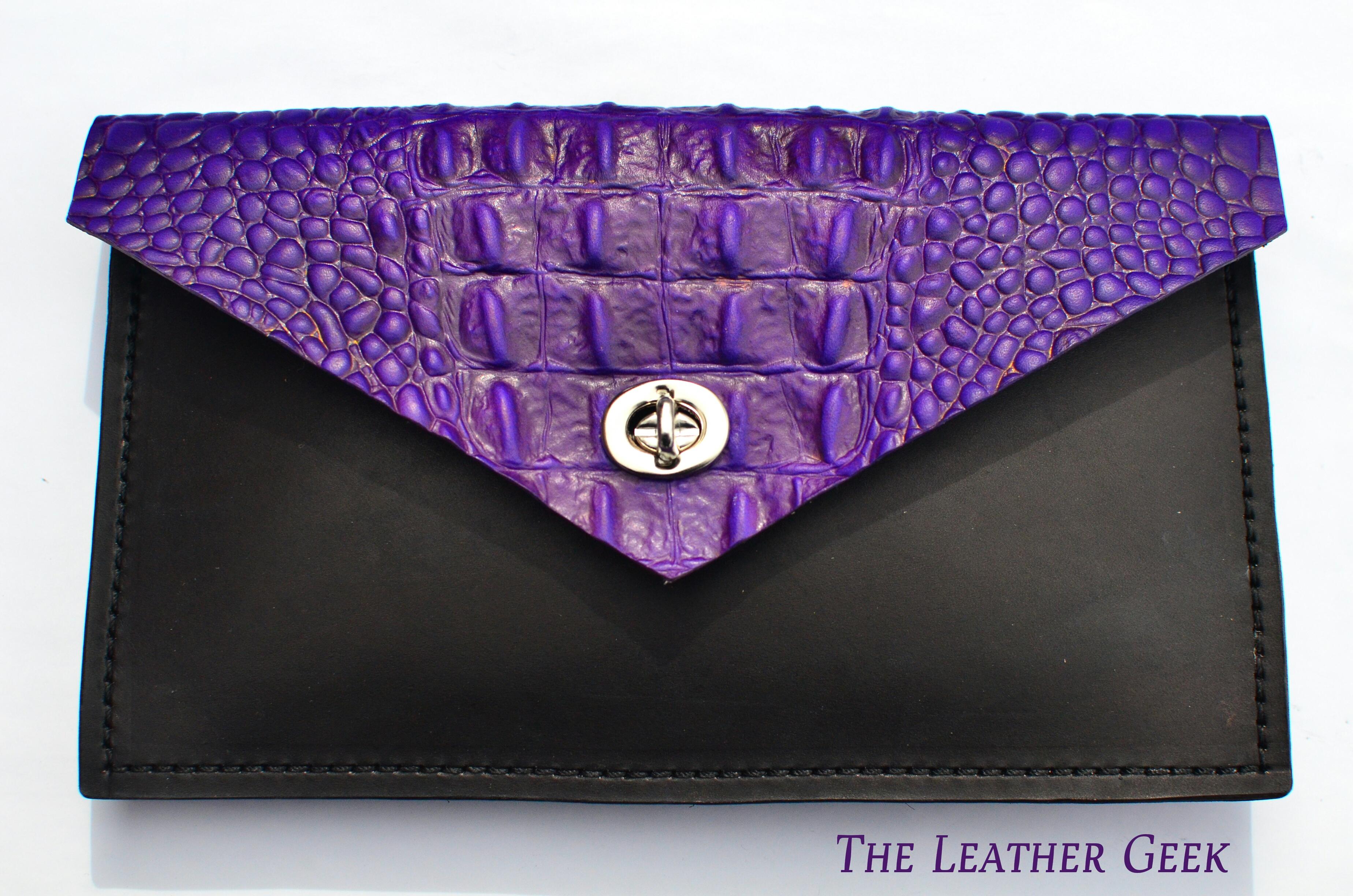 Purple Alligator Clutch