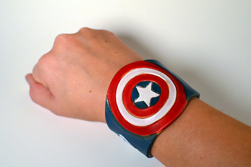 Captain America Leather Cuff