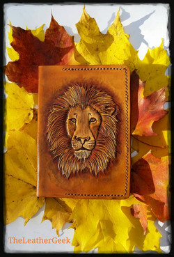 Lion Passport Cover