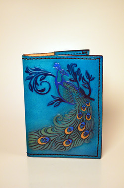 Peacock Leather Journal Cover