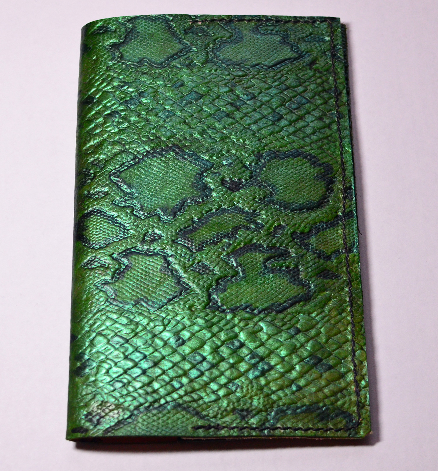 Emerald Snakeskin Leather Journal
