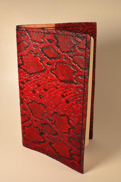 Ruby Red Snakeskin Journal Cover