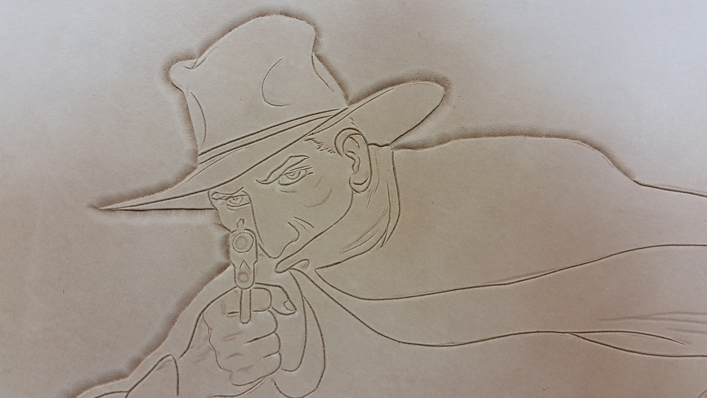 Beginning to bevel the outline