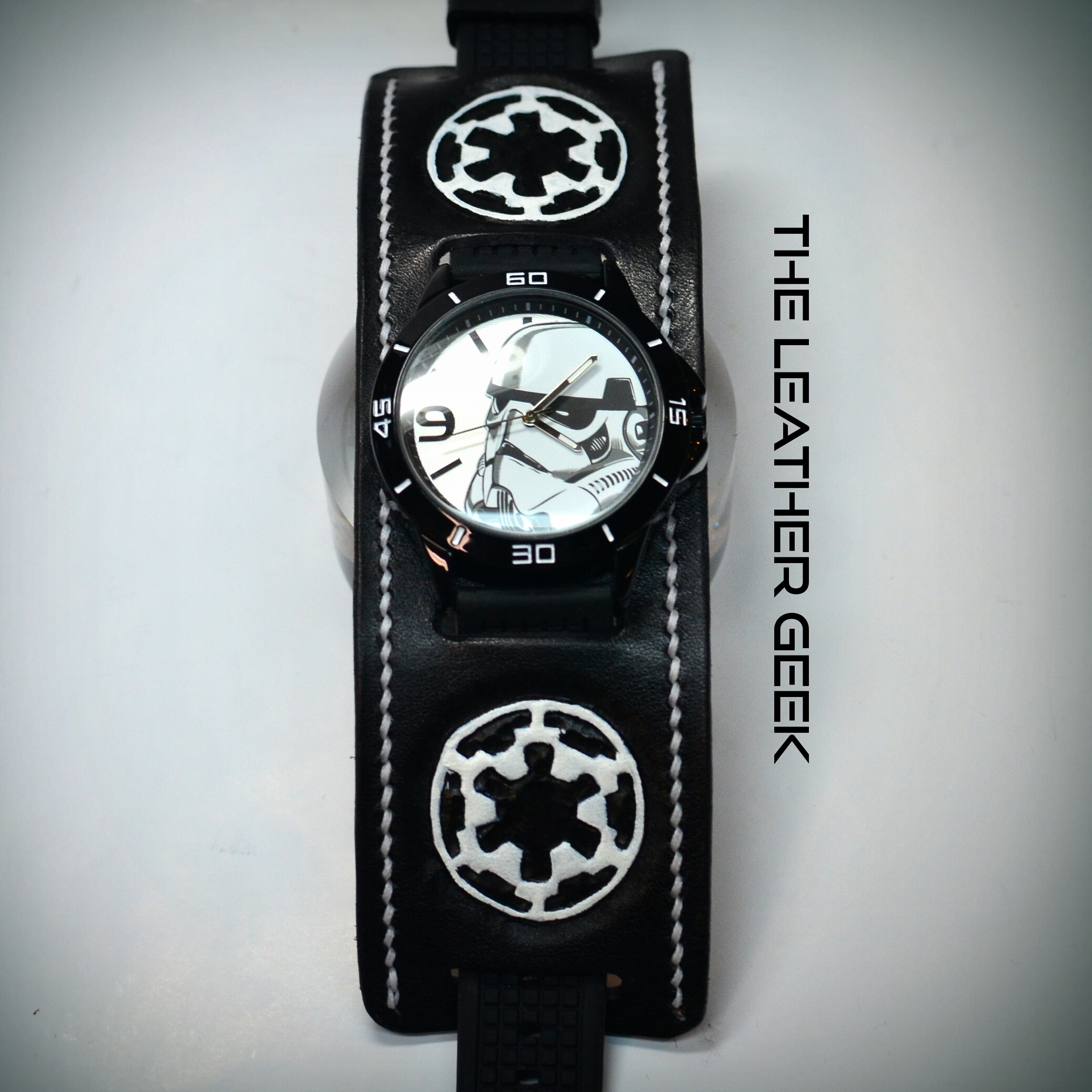 Stormtrooper Leather Cuff Watch