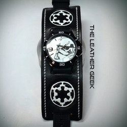 Stormtrooper Leather Cuff Watch