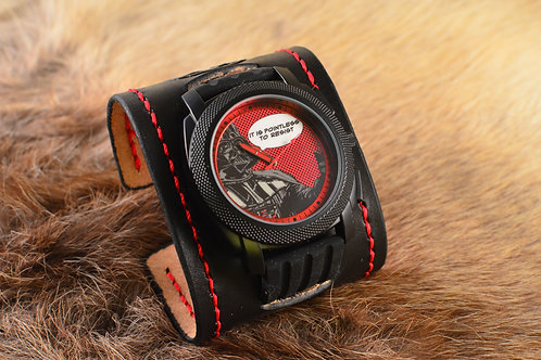 Darth Vader Star Wars Rogue One inspired leather cuff watch