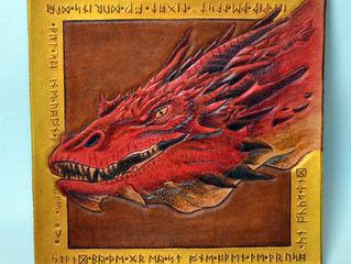 Leatherwork Tutorial: Smaug Dragon from The Hobbit