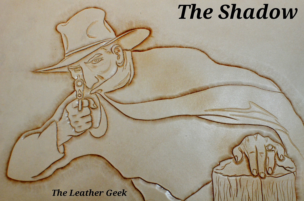 The Shadow finished leather tooling