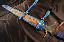 Oak Leaf Leather Sword Scabbard