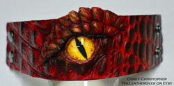 The Hobbit Smaug Leather Cuff