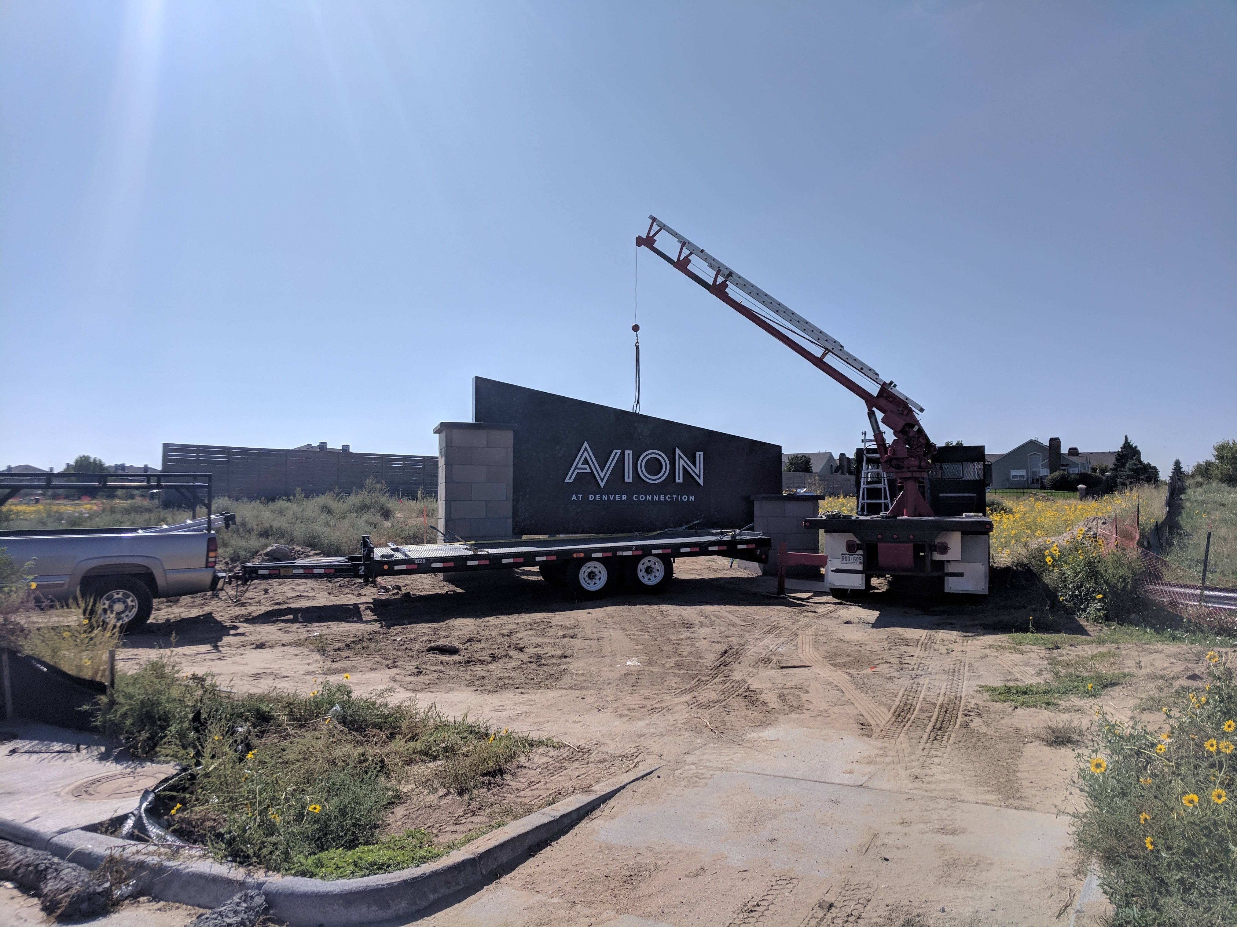 Avion Sign Installation
