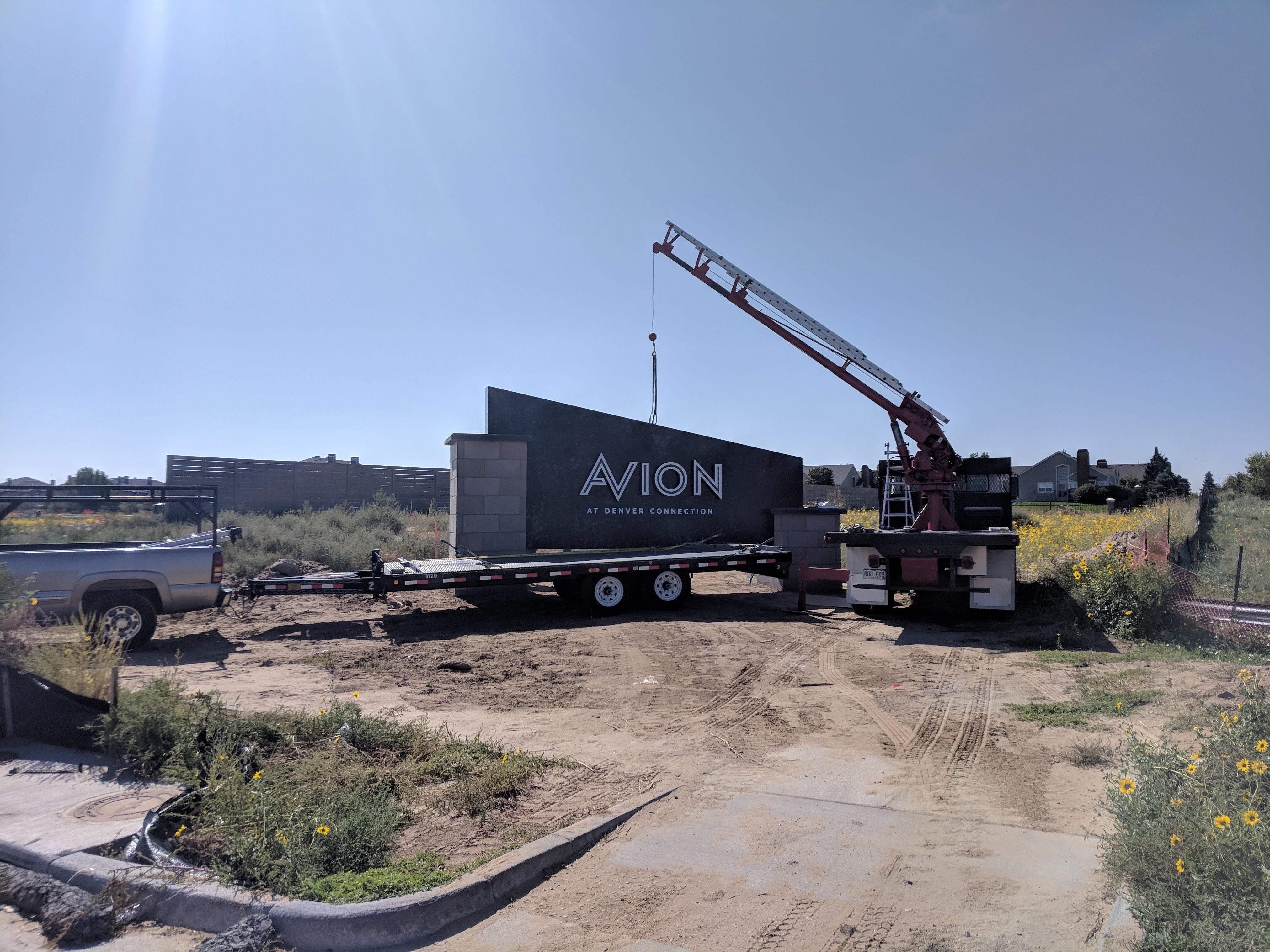 Avion Sign Installation