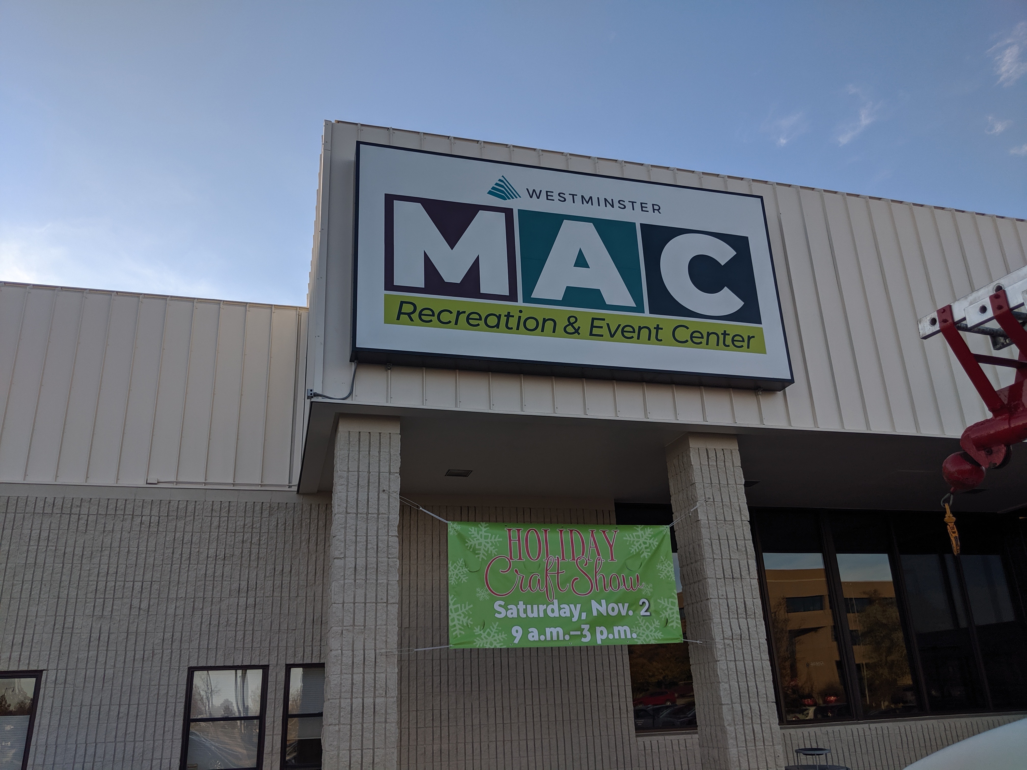 Cabinet Sign for MAC Recreation Center
