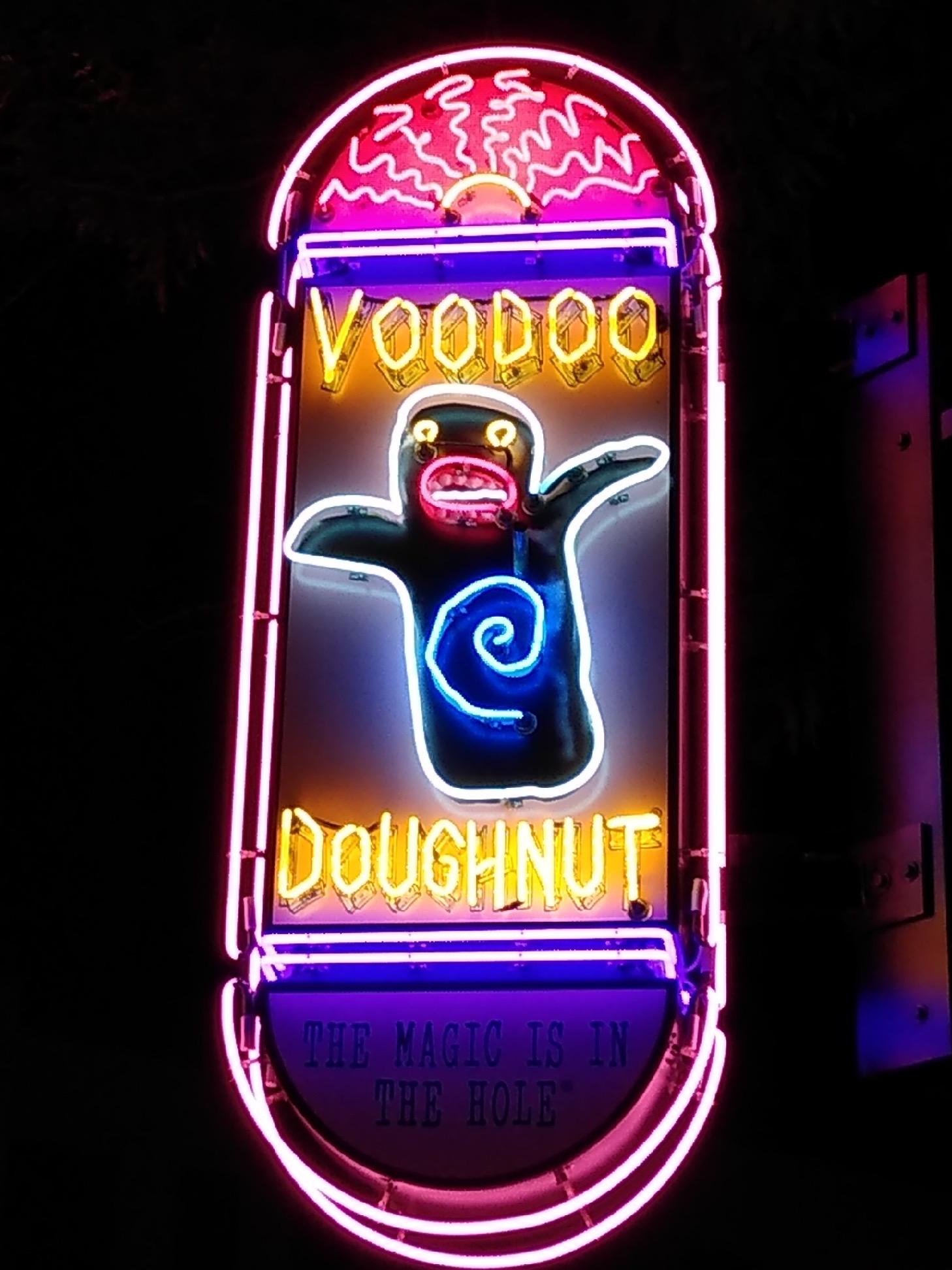 Voodoo Doughnut Neon