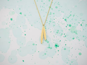 olive necklace with two leaves