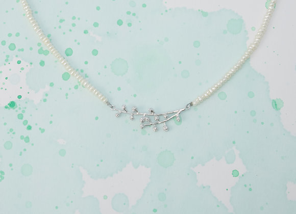 mimosa freshwater pearl necklace
