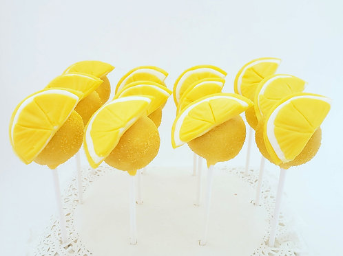 Citrus Fruit Cake Pops