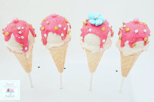 Fancy Ice cream cone cake pops
