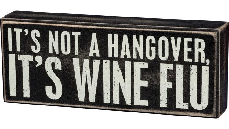 Wine Flu Sign
