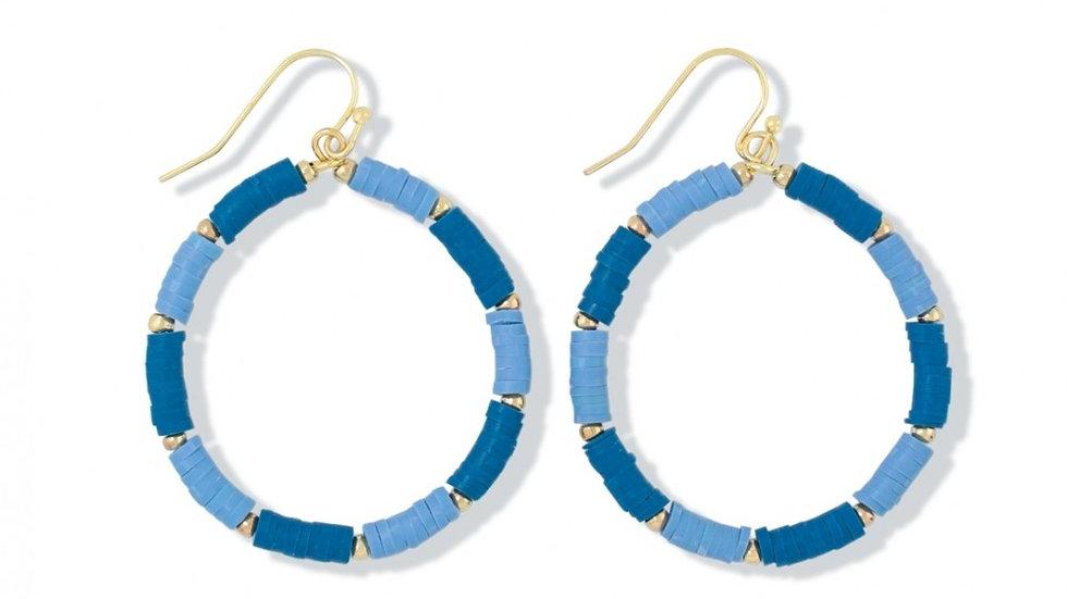 Navy/Slate disk Earrings