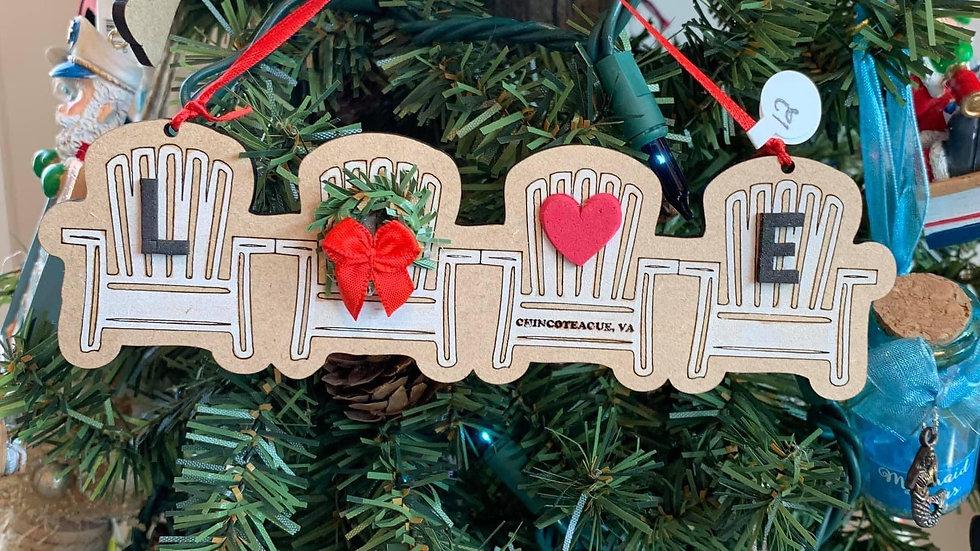 Love Chair Ornament
