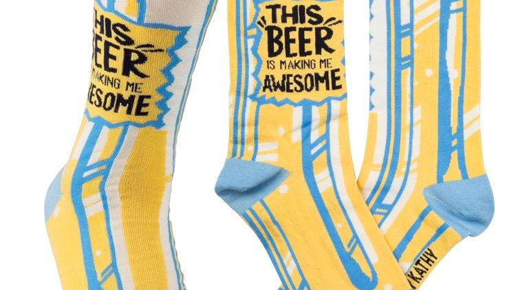 Beer Awesome Socks
