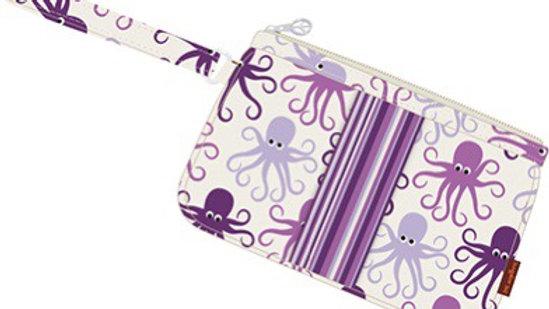 Octopus striped wristlet