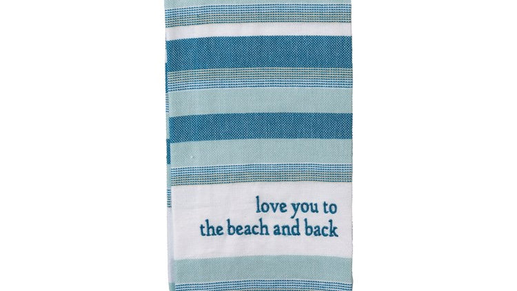 Love you to the Beach Dish Towel