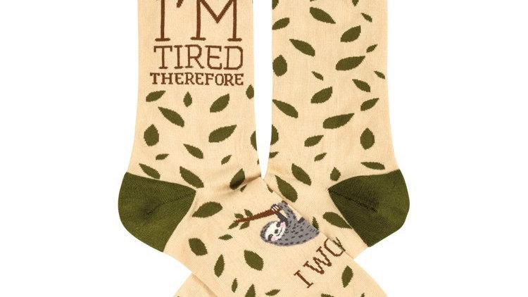 Tired Sloth Socks