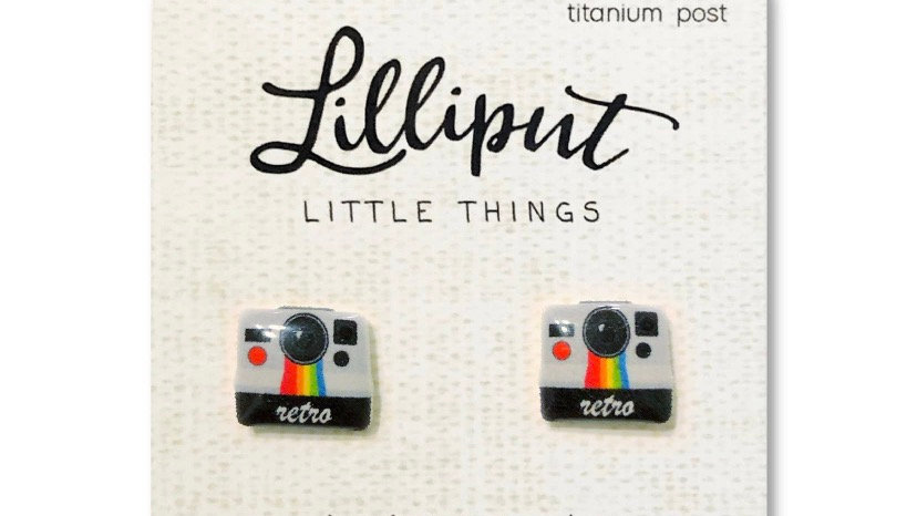 Retro Camera Earrings