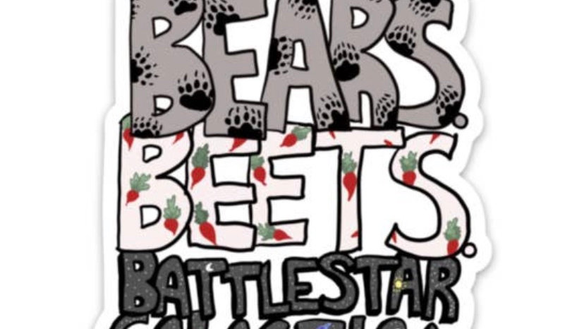 Bears, Beets Sticker