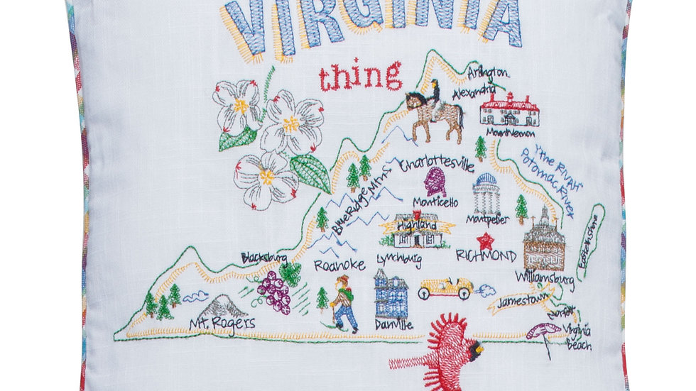 Virginia Embroidered Pillow