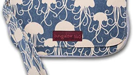 Jellyfish Cotton Canvas Wristlet
