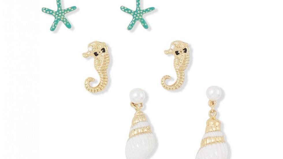Sea Life Trio Earrings