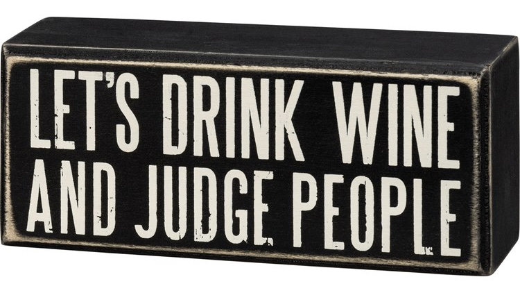 Judge People Sign