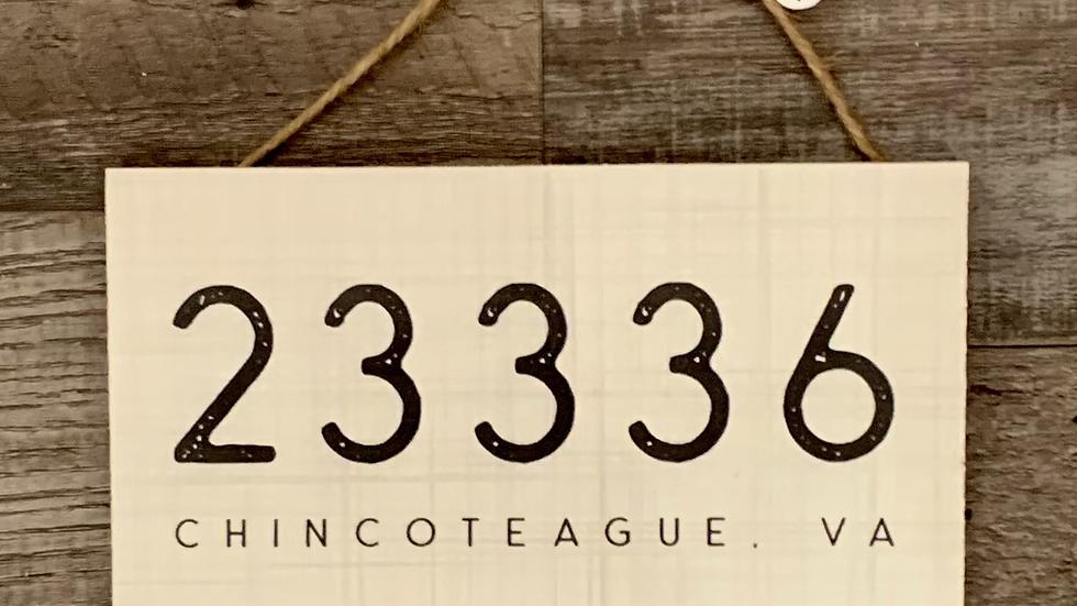 Zip Code CI Sign