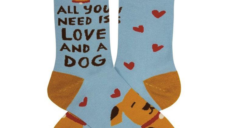 Love and a Dog Socks
