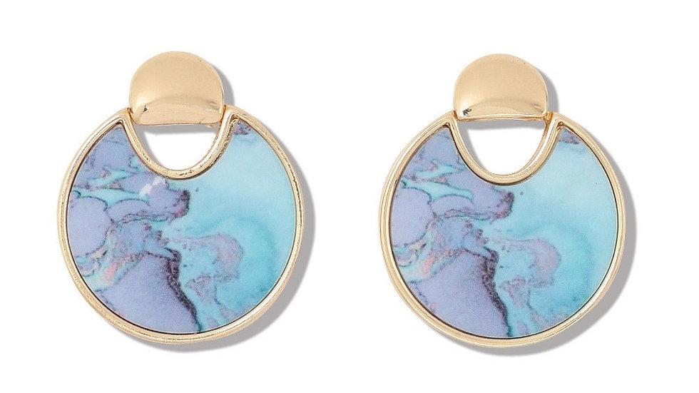 Watercolor Inlay Earrings