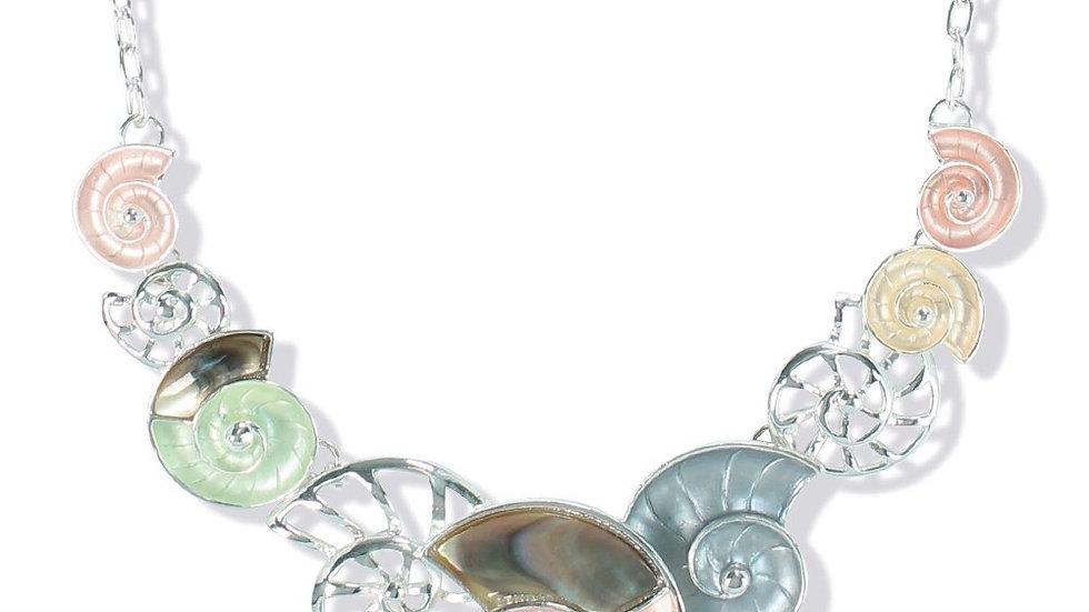 Nautilus w/Abalone Inlay Necklace