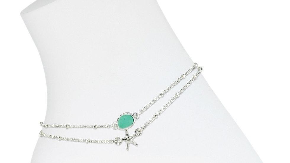 Starfish w/Sea Glass Anklet