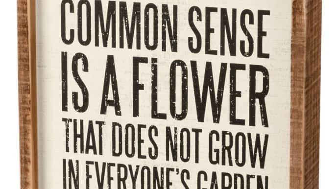 Common Sense - Box Sign