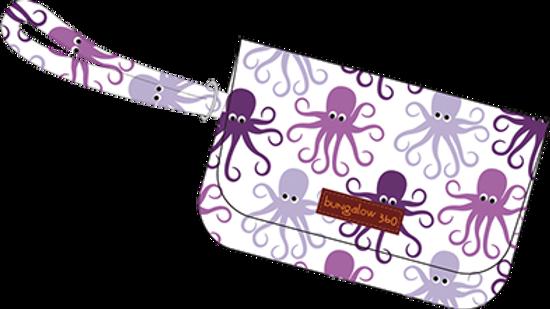 Octopus Cotton Canvas Wristlet
