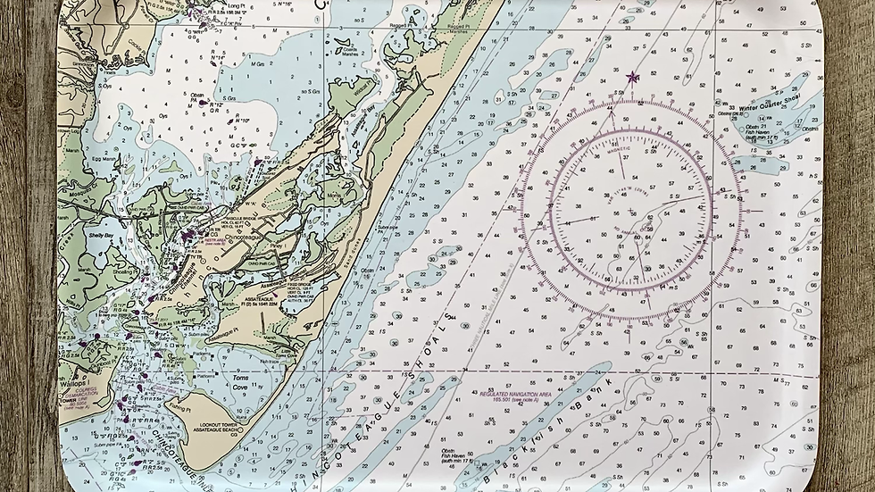 Chincoteague Island Map Tray