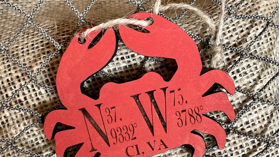 Wooden Crab Ornament